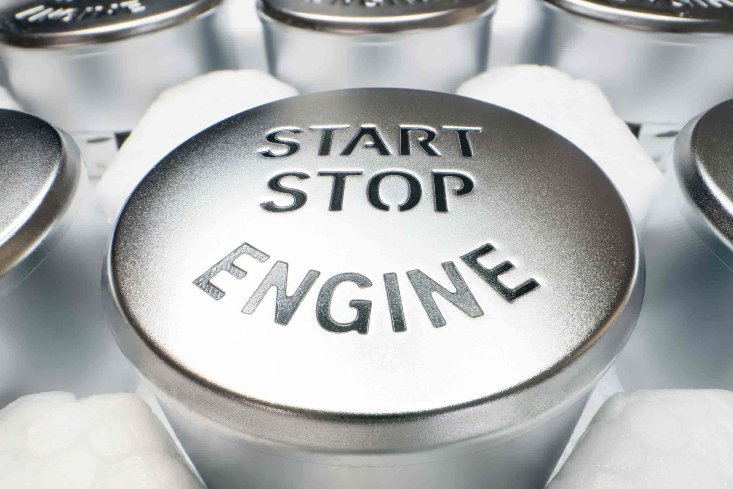 BMW Start-Stop-Engine Knopf